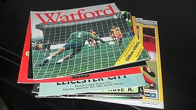 14nr Watford Home Programmes 1980's and 1990's