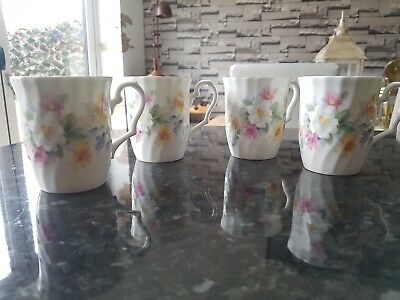 ROYAL SUTHERLAND FLORAL CHINA  CUPS x4