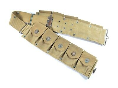 Original WWI Ammo Cartridge Belt Infantry Rifleman Load-out Gear 1918 (Pre-WWII)