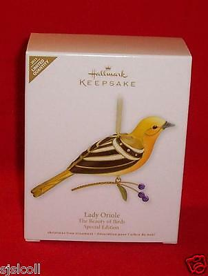 Hallmark 2011 LADY ORIOLE Beauty Of The Birds Limited Special Edition Ornament