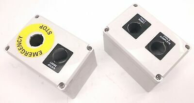 Hoffman Q-2PBPCDM Pushbutton Enclosures Polycarbonate, Added 3rd Hole, Lot of 2