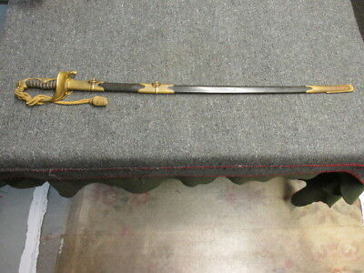 Wwii Japanese Nan'Yo (South Seas) Colonial Official Sword W/ Scabbard & Knot-Exc