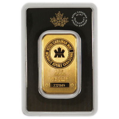 1 oz RCM Royal Canadian Mint Gold Bar .9999 Fine Sealed In Assay