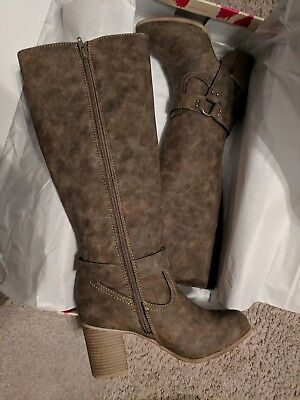 NEW!  Dolce by Mojo Moxy Dora Women's Knee-High Boots  Size 9 M in Brown  $70