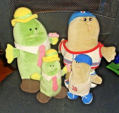 Lot Of 4 Somersaults - Cucumbers & Peanuts Plush - Avon 1985
