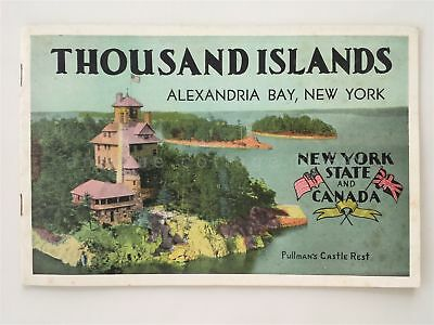 1940S ANTIQUE THOUSAND ISLANDS NEW YORK CANADA 16pg PHOTO SOUVENIR ...