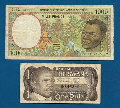 Central African States 1000 Francs 1994 P502Nb N = Equatorial Guinea + Botswana