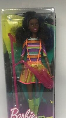 BARBIE and the Rockers African American Doll and Saxophone New
