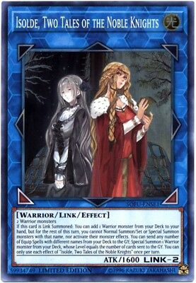 YuGiOh Soul Fusion Super Rare Isolde, Two Tales of the Noble Knights SOFU-ENSE1
