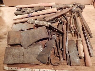 antique hammer tools iron blacksmith crafting hand tool axe junk wholesale lot