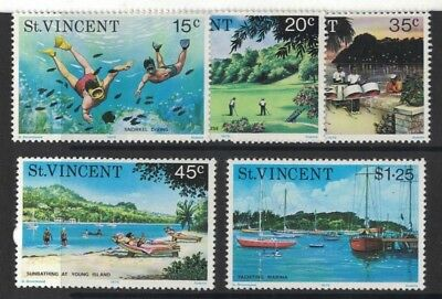 1975 St. Vincent Tourism SG 451/55 MUH Set 5