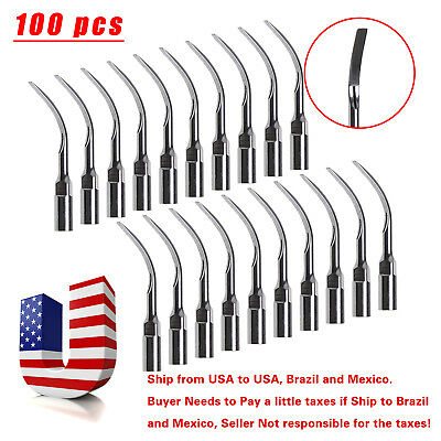 100pc Dental Ultrasonic Scaler Tips Scaling G6 for EMS Woodpecker SKYSEA SANDENT