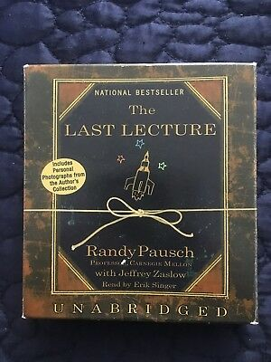 The Last Lecture by Randy Pausch Audio/Compact Discs-LIKE NEW