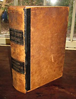 Our 1st Century Leather+Illustrated US History 1776-1876 Centennial Antique+Rare
