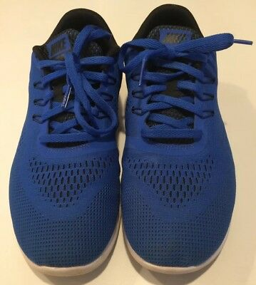 a03160a67e97 NIKE FREE RN GS SNEAKERS 833989 Athletic Boys Youth Shoes Size 6Y Blue EUC