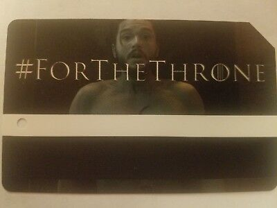 Game Of Thrones MTA Metro Card MetroCard NYC Limited Edition Jon Snow