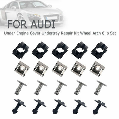 20 piece Under Engine Cover Undertray Repair Kit Wheel Arch Clip Set For AUDI VW