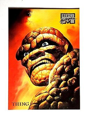 1996 Fleer Marvel Masterpieces Thing #49 Trading Card