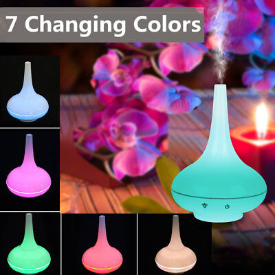 7 Color Change LED 200ml Ultrasonic Aroma Diffuser Mist Humidifier Essential Oil