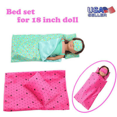 Bedding Set Sleeping Bag 18 Inch For American Girl Doll Accessory Girl's Toy US