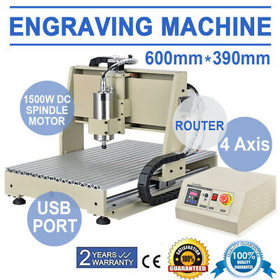 USB 4AXIS 6040 1500W CNC Router Engraving Machine Carving Milling Machine US UPS