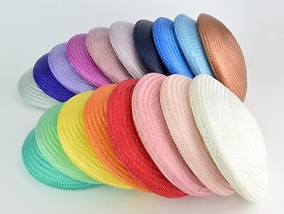 Buntal Straw Button Fascinator - 16cm/6in - Various Colours - Millinery Craft