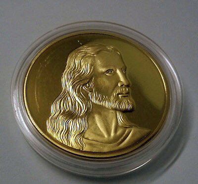 Jesus/Last Supper coin Gold Plated.Uncirculated