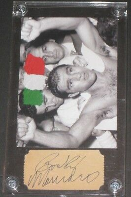 ROCKY MARCIANO Boxing Card w/ Signed Cut The Ring Memorabilia READ LISTING