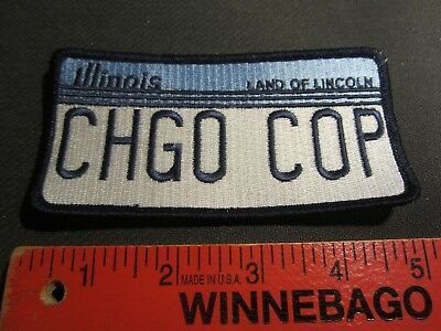 Chicago Police License Plate Patch
