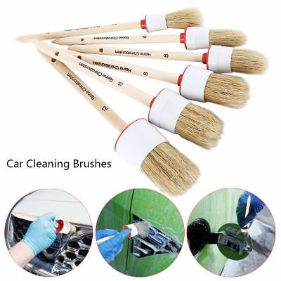 6x Super Soft Detailing Brushes for Car Cleaning Vents Dash Trim Seats Quality