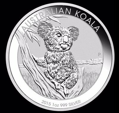 Australian Koala 2015 1oz X 3 Silver Pure Silver Perth Mint Proof Coin 3onces