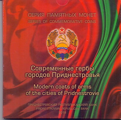 Transnistrien / Transnistria - set 8 coins 2017 Modern coats of arms