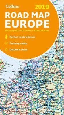 2019 Collins Map of Europe by Collins Maps 9780008313494