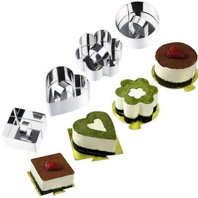 Square Round Heart Flower Cookie Biscuit Baking Mould Stainless Steel Cutter YO