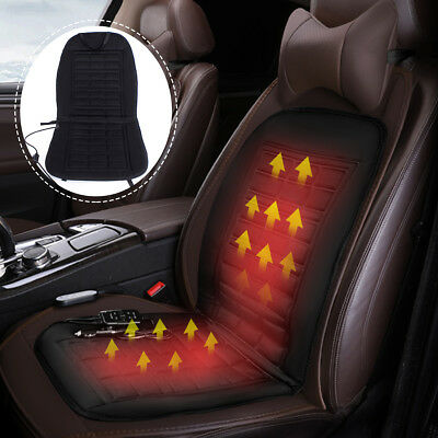 12V Car Seat Heater Cover Thickening Heated Heating Cushion Winter Warmer Pad US