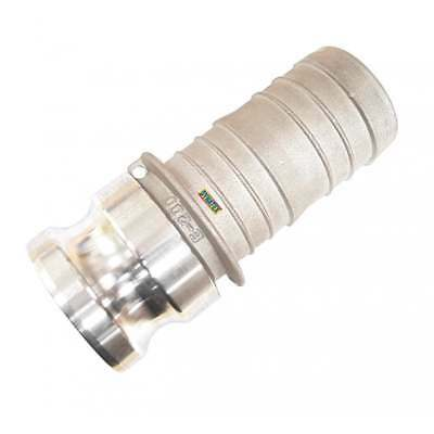 "Camlock 2"" male x tail male tail Water Pump Connector Hose Coupling Type E"