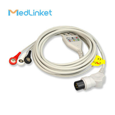 MED-LINKET AIR SHIELDS Compatible One-Piece Series ECG Cable With Leads