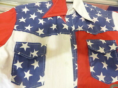 Vintage Funky & Groovy Threads USA Stars and Stripes shirt 1960s 70s Kennington
