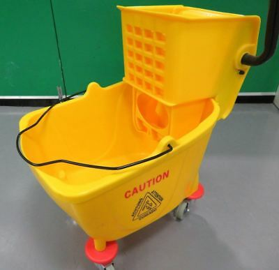 Professional Yellow Kentucky Mop Bucket with Wringer Mops Cleaning Janitorial