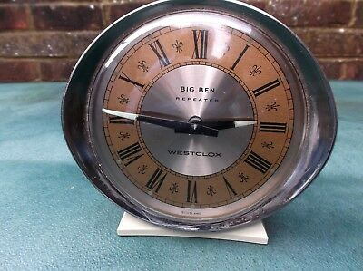 Westclox Big Ben Repeater Alarm clock lovely cosmetic condition made in Scotland