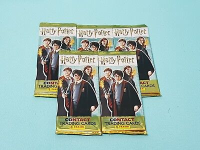 Panini Harry Potter Contact Trading Cards 5 Booster / 25 Karten Tierwesen