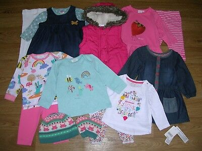 NEXT MOTHERCARE etc Girls Pink Bundle Outfits Dress Tights Leggings Age 3-6m