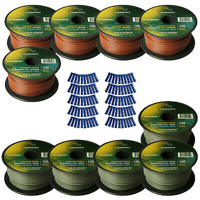 Harmony Car Primary 18 Gauge Power or Ground Wire 1000 Feet 10 Rolls Brown Gray