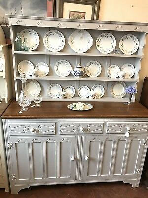 Vintage Welsh Dresser -  Grey- Shabby Chic - Delivery Available -  SC238