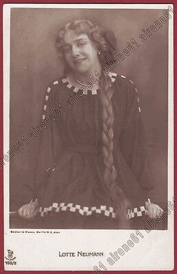 Lotte Neumann 02 Attrice Actress Schauspielerin Cinema Muto Silent Movie