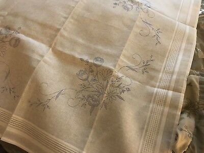 COTTON EMBROIDERY FLOWER TABLECLOTH TO EMBROIDER 80x80cm ONLY