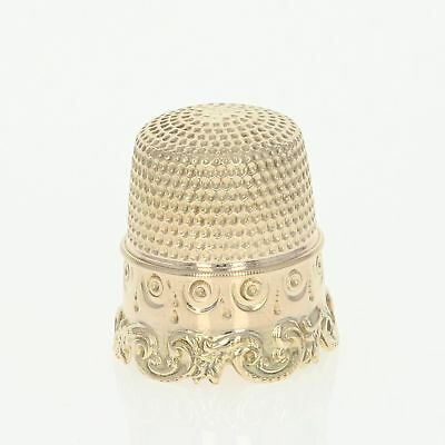 Stern Brothers Thimble - 14k Yellow Gold Size 7 Sewing Tool
