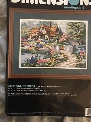 Dimensions Needlepoint Kit Cottage Retreat Material & Instructions  Only(D02461)