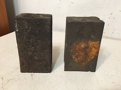 Pair Of Antique Eight Day Iron Clock Weights From Brewster Triple Decker