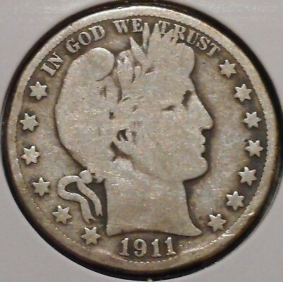 Barber Half - 1911-D - Historic Silver! - $1 Unlimited Shipping